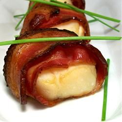 Marinated Scallops Wrapped in Bacon | Recipe