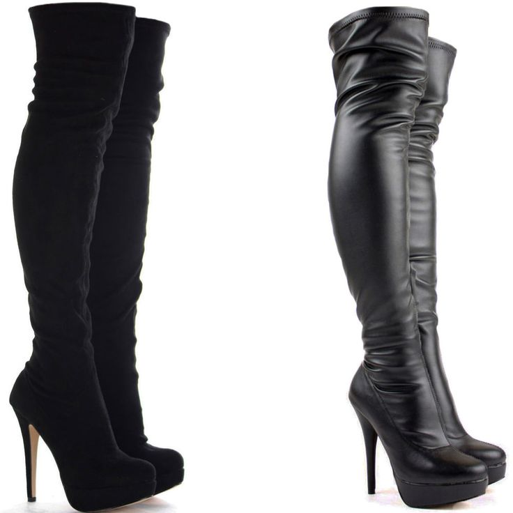 1000  ideas about Knee High Heel Boots on Pinterest | Black shoe ...