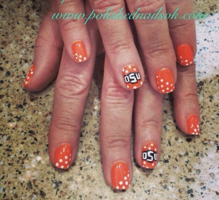 OSU Nails Oklahoma State Football | Cowboy nails, Oklahoma state football, Oklahoma state university