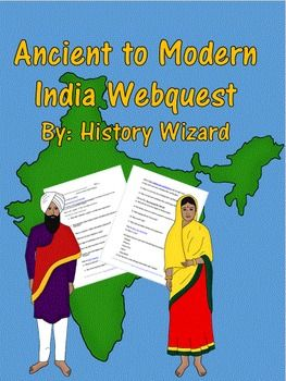 The Ancient to Modern India Webquest has 55 questions. An answer sheet is…