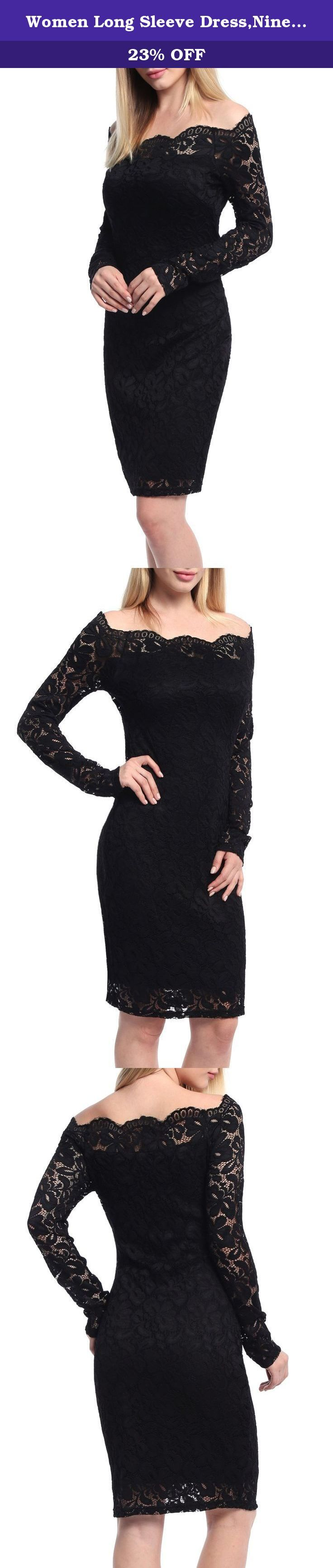 Women Long Sleeve Dress,Ninedaily Sheath Fashion Bodycon Empire Waist Black XL. 1.About us: We own a large women clothing factory and sales all kinds of women clothing. All products made in our own manufacturer through an emphasis on quality and customer service. 2.About Product: a. Features: Scalloped Neck, Full Lace, Floral Print, Frill Collar, Empire Waist, Over Knee, Pencil Skirt, Bodycon Dress b. Occasion: This is a great dress to wear to work, evening out, parties, prom and…