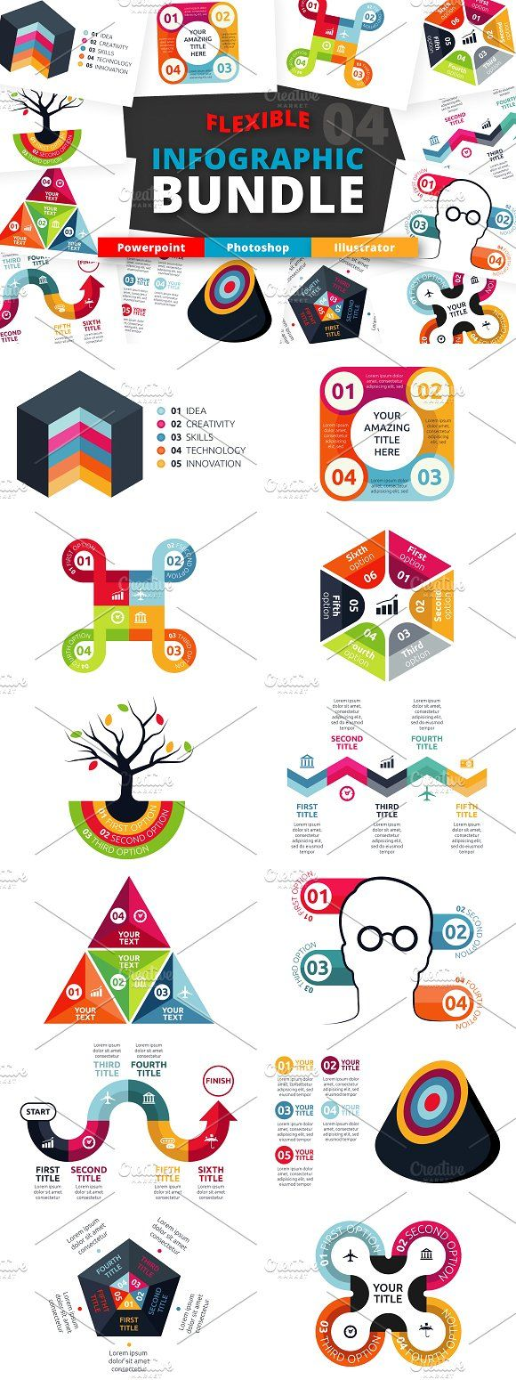 @newkoko2020 Flexible Infographic Bundle (vol.4) by Infographic Paradise on @creativemarket #infographic #infographics #bundle #design #template #megabundle #bigbundle #presentation #vector #business #layout #creative #graph #information #visualization