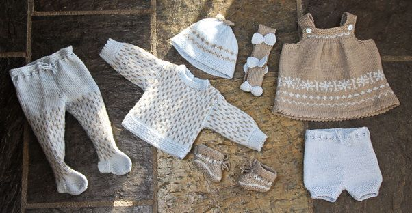 Blue and beige are baby doll clothes patterns are beautiful to your doll