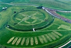 Trelleborg Viking monument. It is one of four exact Viking forts built on ley lines. ... actually, in an exact line, hundreds of miles apart. Also, the 4 doors line up exactly with true north, south, east and west