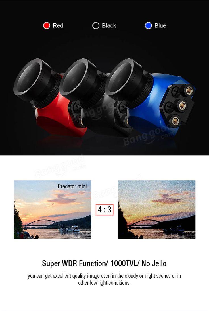 Foxeer Predator Mini 1.8mm/2.5mm CMOS 1000TVL/20mS Latency 4:3 SuperWDRFunction FPV Camera w/ OSD
