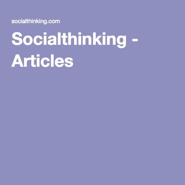 Socialthinking - Articles