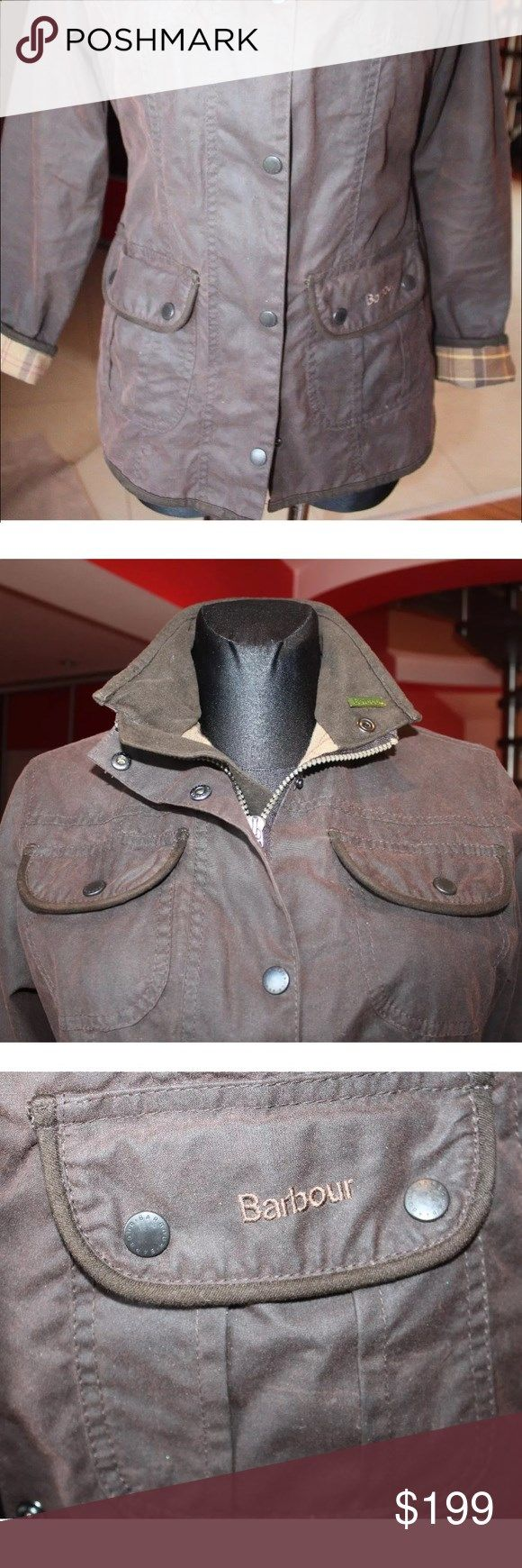 Barbour womens jacket WAXED Waxed Barbour jacket size 4 perfect, new condition Barbour Jackets  Coats Utility Jackets