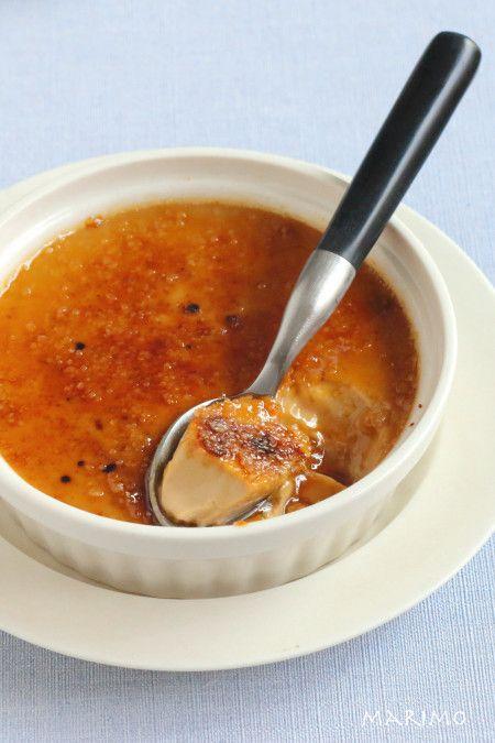 フライパンで10分蒸すだけ紅茶のクレームブリュレ【オーブン不要】