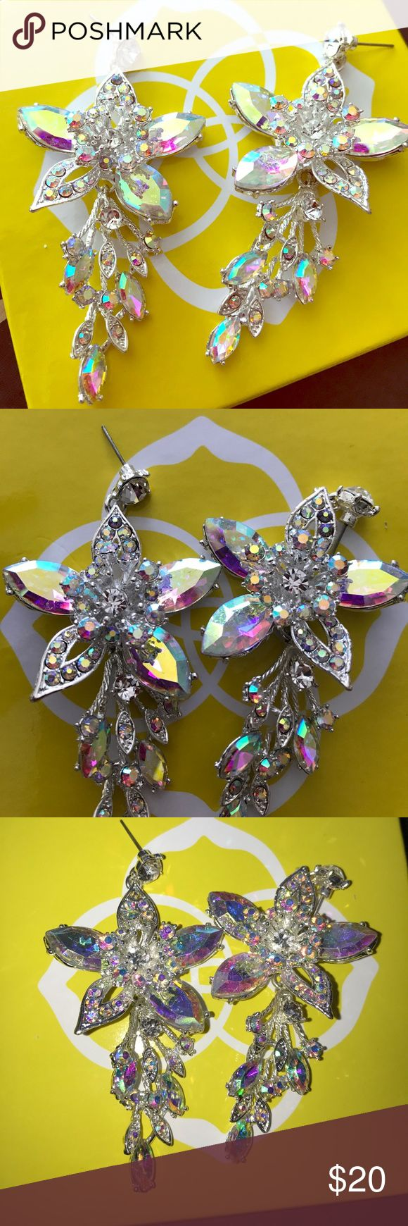 Pageant earrings. Big sparkly pageant earrings. Never worn. No stones missing. Jewelry Earrings