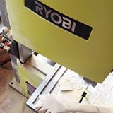 Interesting projects going on in the shop this afternoon on my @ryobipowertools band saw #sneakpeek #ryobi #ryobination #homedepot #bandsaw #maker #woodworking #diyer