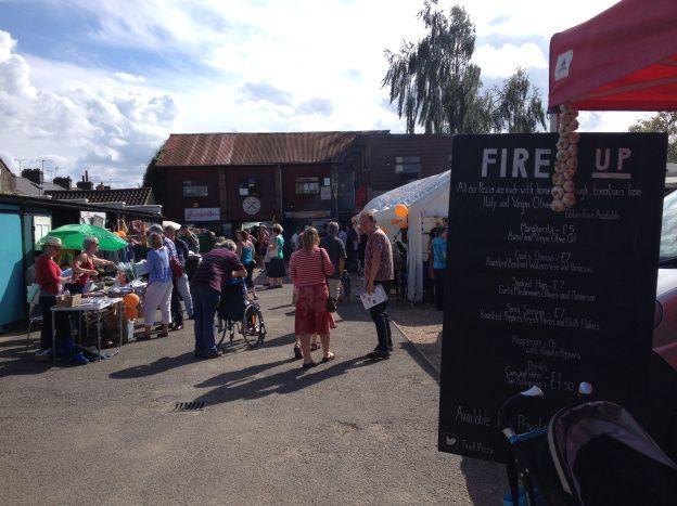Hope Street Yard market Romsey Art Festival