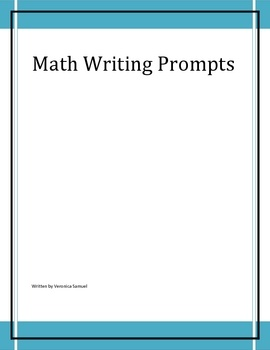 math writing prompts