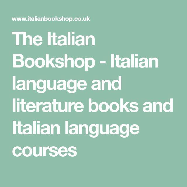 The Italian Bookshop - Italian language and literature books and Italian language courses