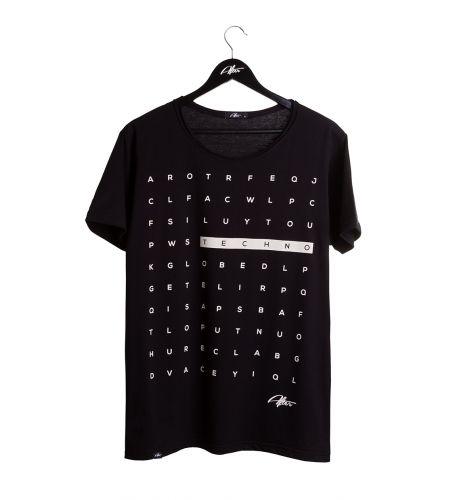 T-Shirt Techno Caça Palavras