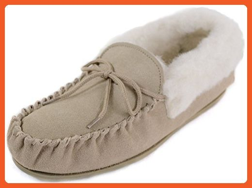 Sheepskin World Women's Wool Moccasin Slippers 4 UK Camel - Slippers for women (*Amazon Partner-Link)