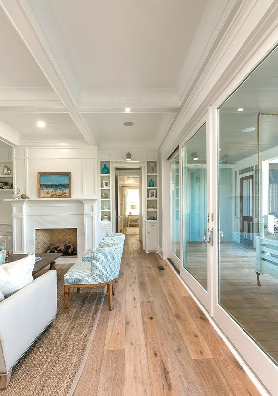 new beach house with coastal interiors features duchateau danube from the riverstone collection via - Beach House Interior Design Ideas