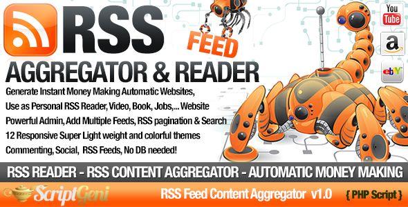 RSS Aggregator PHP Script - Niche RSS Site Builder