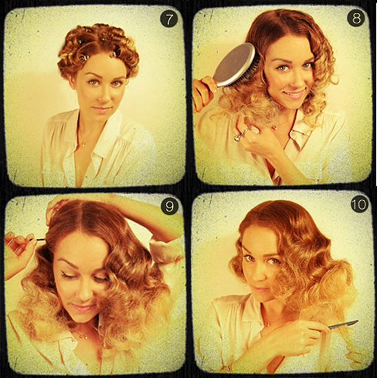 Lauren Conrad's 10 Steps To Halloween Flapper Hair