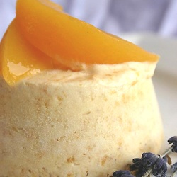 peach and lavender semifreddo