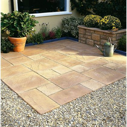 walton patio pack honey gold 761 sq m at homebase be inspired