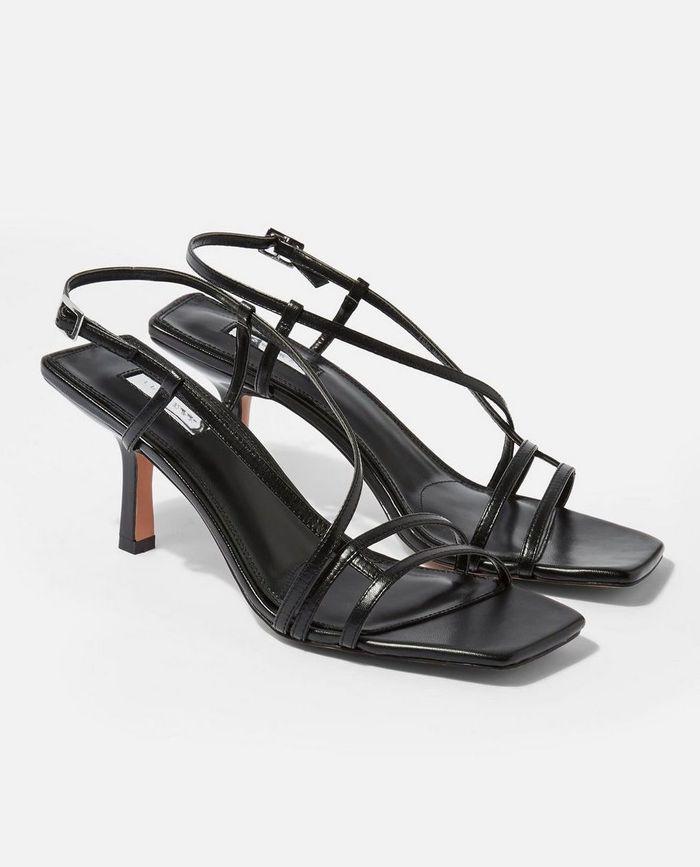 Topshop Strippy Heeled Sandals