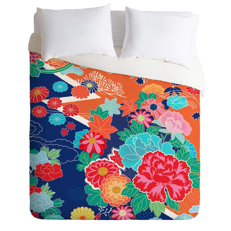 Juliana Curi Osaka Orange Duvet Cover | DENY Designs Home Accessories