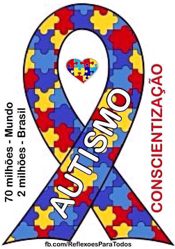 """No mês de abril, Reflexões Para Todos participa da campanha para conscientização do #Autismo, que atinge milhões de pessoas. 02 de abril: Dia Mundial de Conscientização do Autismo. Abrace também esta campanha. Compartilhe as mensagens pertinentes. Acesse """"Abril - Mês de conscientização do Autismo"""", clicando na imagem."""