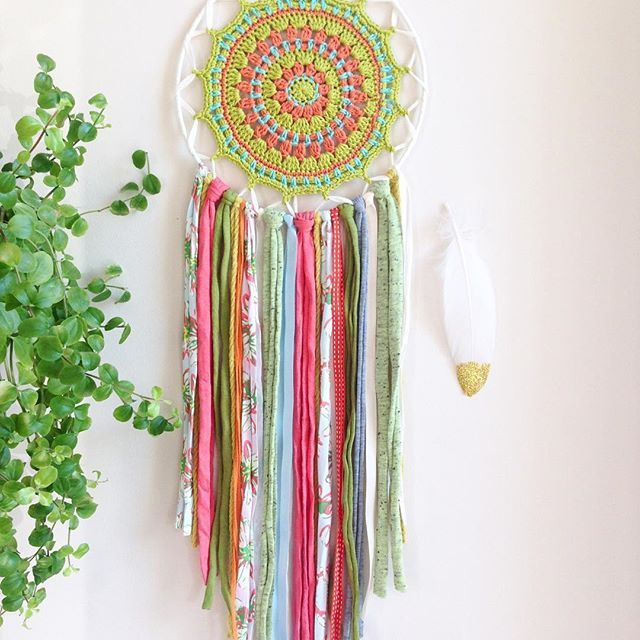 Mandala dreamcatcher-harmony- After long time here comes a new face! The colors I like and it brings harmony in the life. #atelierprya #mandala #mandaladreamcatcher #dreamcatcher #attrapereve #etsy#crochet #harmony