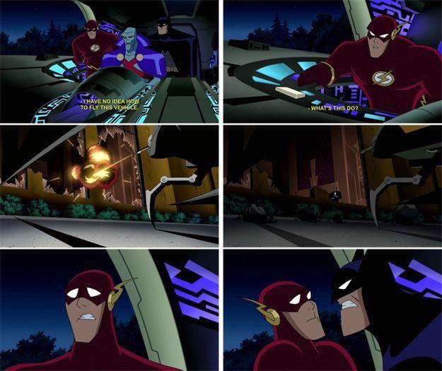 batman and flash relationship questions