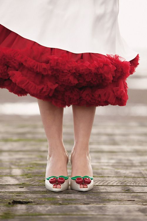 Vivienne Westwood Melissa Lady Dragon cherry shoes...I need to get married so I can wear these!!