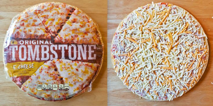 We tested 4 major frozen pizza brands to see which was worth your money. #Frozenpizza #pizza Tombstone frozen pizza side by side