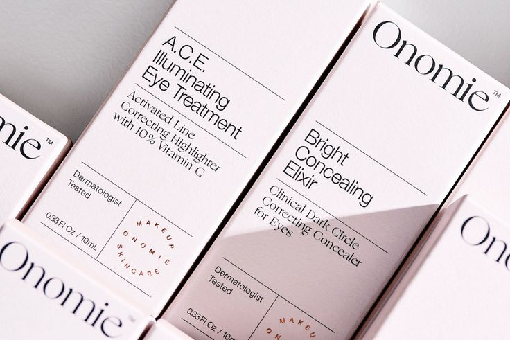 Brand identity and packaging for Onomie. Onomie was created to simplify and maximize the benefits of individual beauty products, for women who recognize that beauty should not be complicated. When serious beauty meets modern makeup the result is scientific and beautiful - this is both the approach to the products themselves as well as the approach to the visual identity and packaging. Photography Oscar Meyer. Design by Homework. © onomie.com