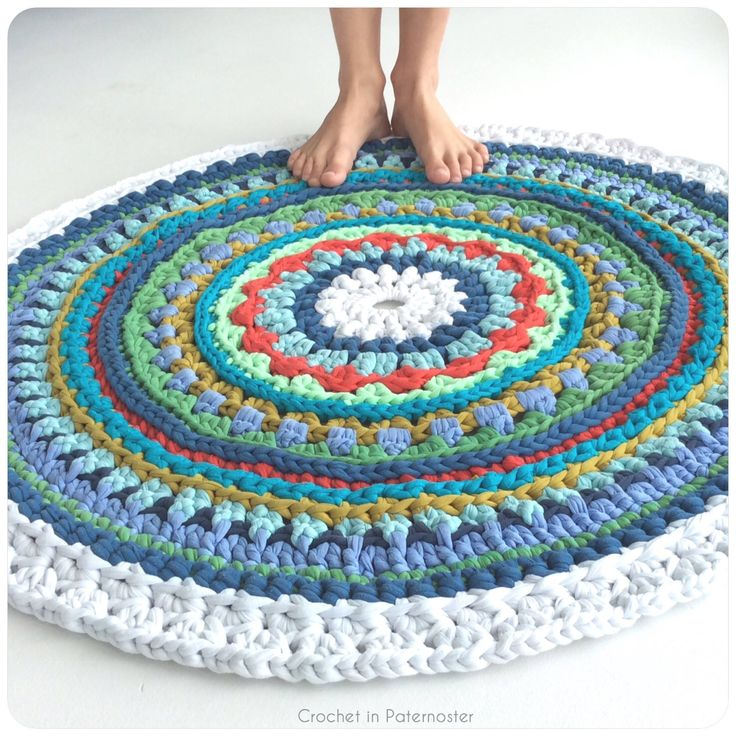 17 Best Images About Trapillo Crochet T-shirt Yarn Rugs By