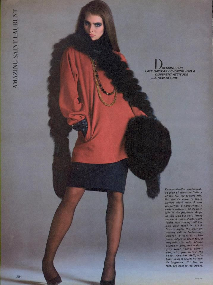 Brooke Shields Avedon | The Best of the Couture worn by Brooke Shields, 1980