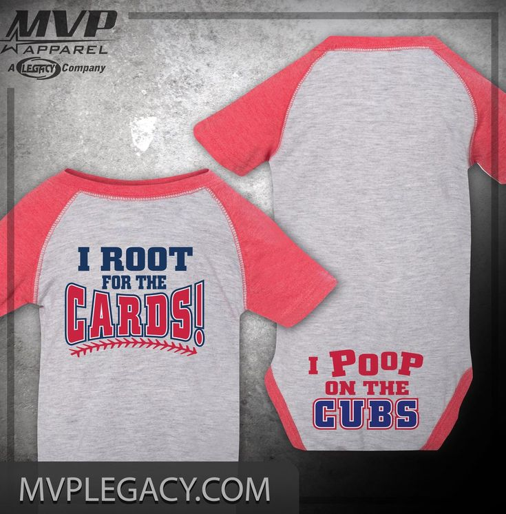 CARDINALS STL Cardinals Poop on the Cubs Baby Onesie, Baby Shower Gift, Baby Gift for St. Louis Cardinals Fan,  Cards Cubs Rivalry ID64