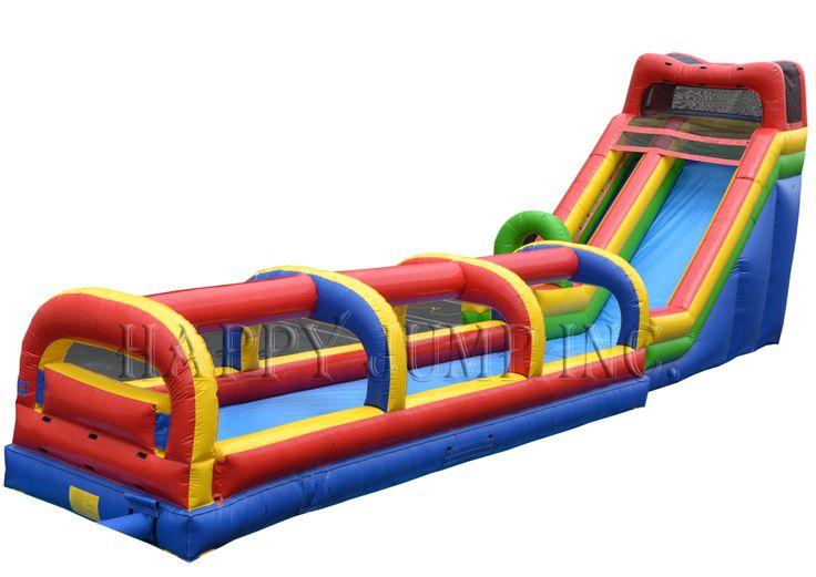 18 water slide with slip and slide: Moonwalks | Inflatable Water Slides | Bounce House | Inflatable Bouncers, Water Slides by Happy Jump