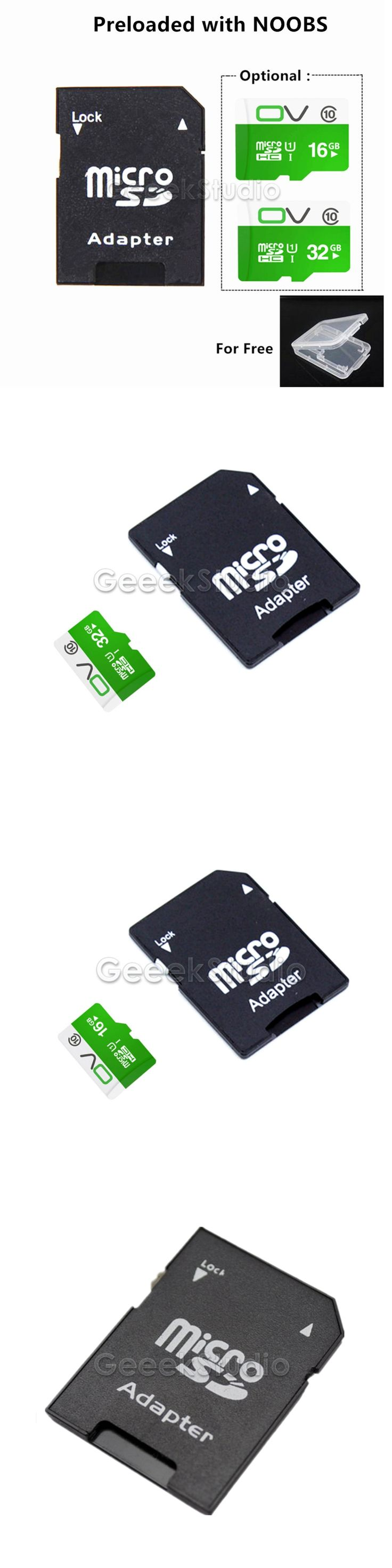 Preloaded NOOBS Optional 16GB / 32GB Micro Class 10 Memory SD Card for Raspberry Pi