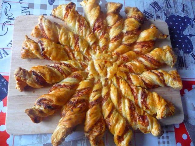 recette tarte soleil jambon fromage, pâte feuilletée, jambon blanc, béchamel et fromage râpé