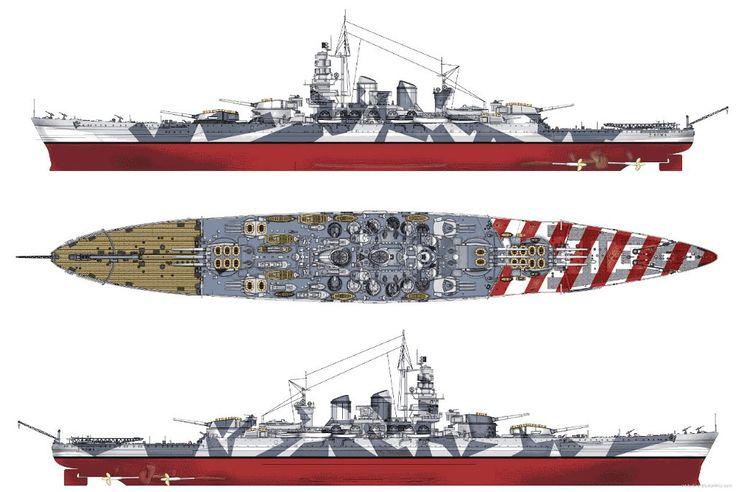 nave de batalla ROMA Regia Marina