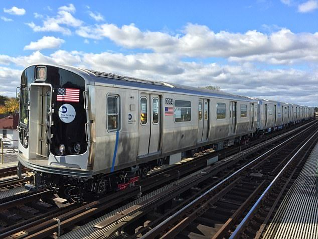 11/24/17 New York's multi-million dollar subway train breaks down on its FIRST DAY on the tracks  The R179 model failed a test by the Metropolitan Transportation Authority (MTA)  The train came to an emergency stop when it ran over a blue bucket on the J line   A faulty display screen also showed the doors were open in one of the carriages  The MTA paid a whopping $740 million for Bombardier to build 300 cars