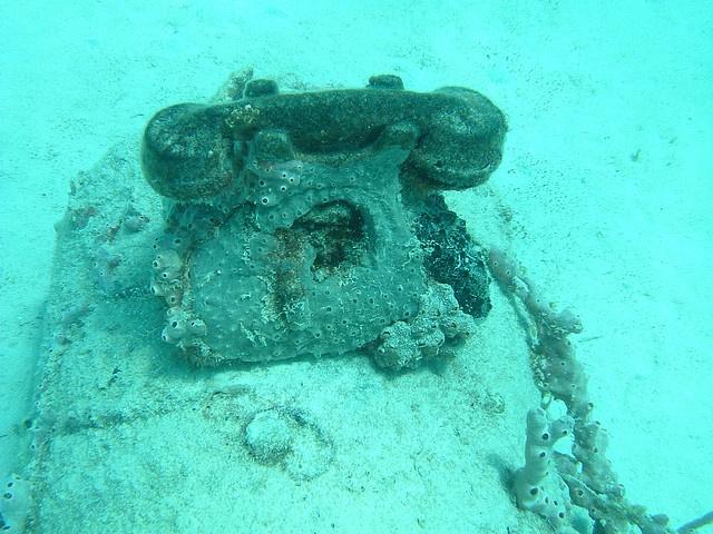 Telephone on Carlisle Bay wrecks - Barbados.