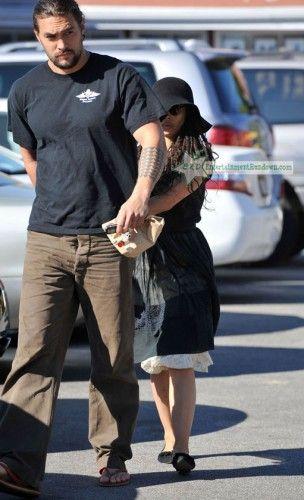 Lisa Bonet And Jason Momoa At The Brentwood Country Mart