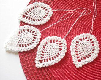 crochet adornos de navidad adornos de navidad colgante crochet blanco hojas hoja de ganchillo adornos rbol