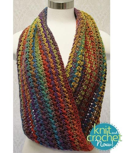 Free crochet Star Stitch Long Cowl pattern download Design by Lena Skvagerson Featured in Season 6, episode 12, of Knit and Crochet Now! TV.