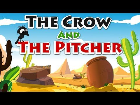 Story Time - The Crow and the Pitcher | Thirsty Crow | Aesop's Fables | Story - YouTube