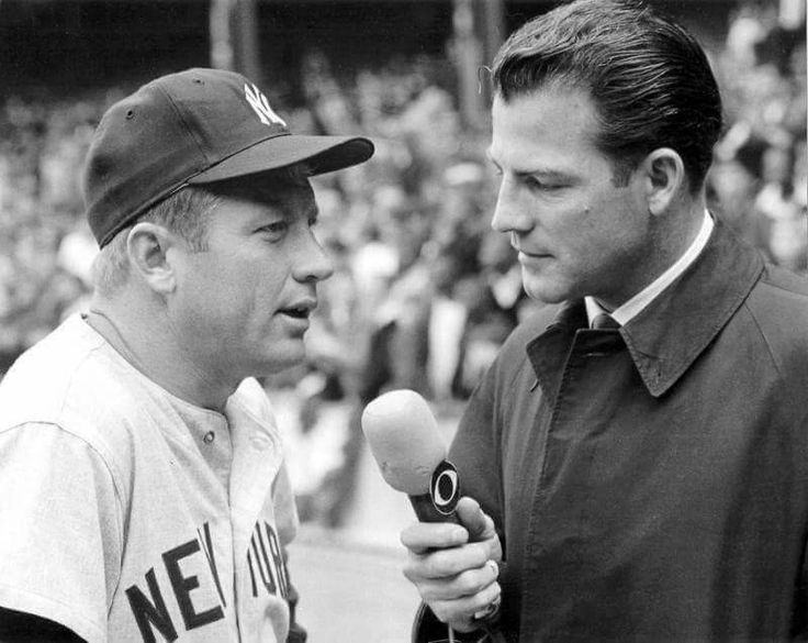 Mickey Mantle and Frank Gifford