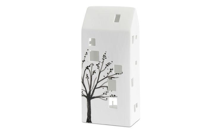 Christmas accessories - House tealight holder - White - Ceramic