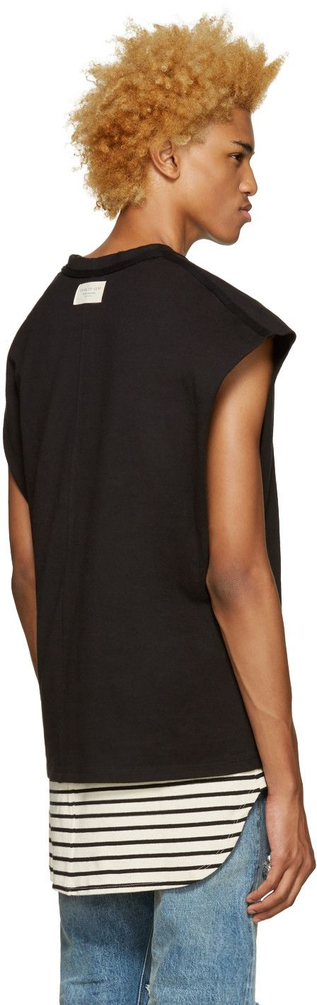 Fear of God - SSENSE Exclusive Black Inside-Out Muscle T-Shirt