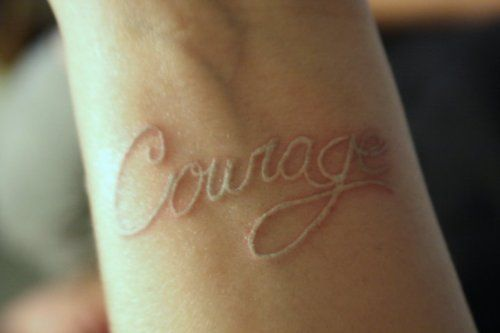 White ink tattoo.. hmm. I like