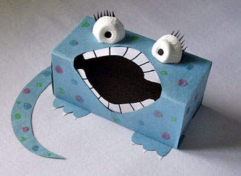 Sandwich Box Monster (can feed it artic cards) http://crafts.kaboose.com/sandwich-box-monster.html